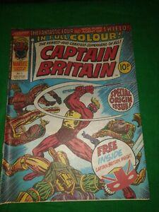CAPTAIN BRITAIN #1 No Mask Oct 1976 Marvel Comics Bronze
