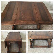 Vintage Oak Swivel Top Table