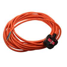 Long 10M Universal Vacuum Cleaner Flex Mains Power Cable Lead & Plug 3 Core 1mm