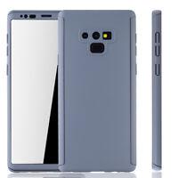 Samsung Galaxy Note 9 Hülle Case Handy Cover Schutz Tasche Etui Panzerfolie Grau