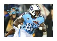Delaine Walker NFL (1) Tennessee Titans A4 signed poster. Choice of frame.