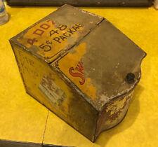 Spaulding & Merrick Tobacco Cigarette  TIN LITHO STORE COUNTER DISPLAY CASE BOX