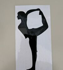 Girl ballet dance fitness light switch decal sticker home decor