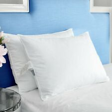 Puredown® 2 Pack Duck Down & Feather Bed Pillows Medium Firm 100% Cotton Cover