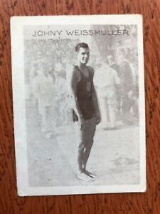 Johnny Weissmuller Tiedemanns Tobak Norwegian Ed. Tarzan Swimming Very Rare 1930