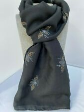 Beautiful BEE design Black Scarf with all over bees with gold glitter New Gift