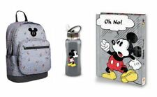 Disney Bundle Mickey Mouse High-School BackPack Bag Binder Bottle