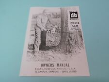 DAVID BRADLEY CHAINSAW MODEL 917.60003 OWNERS MANUAL ----------- MAN100A