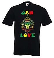 JAH LOVE T-SHIRT - Reggae Rasta Rastafarian Bob Marley - Sizes S to XXXL