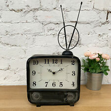 Vintage Retro Freestanding Home Office Analogue 12 Hour Display Bedside TV Clock