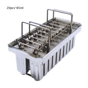 TECHTONGDA 20pcs 85ml Stainless Steel Ice Lolly Mold Ice Cream Making Mold