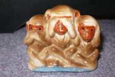 Vintage Monkeys Figurine Speak No Evil See No Evil Hear No Evil Made in Japan