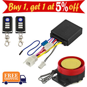 Car Security Alarm System Kit Remote Control 12V Anti-theft Motorcycle Bike New