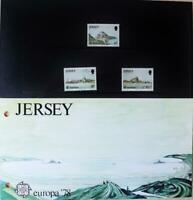 """Jersey Stamps; Europa '78 """"Jersey Monuments"""" MNH Presentation Pack 1978"""