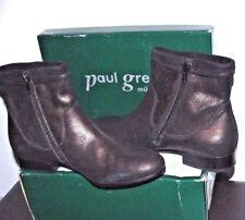 $350.00 PAUL GREEN MUNCHEN WOMENS BLACK GENUINE LEATHER BOOTS SZ 6-6,5 AUSTRIA