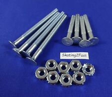 8 New Mounting Bolts & Nuts Kit Quad Roller Skates Speed Jam