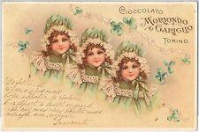 53221  -  ITALY Italia - VINTAGE ADVERTISING POSTCARD: Chocolate CHILDREN 1900