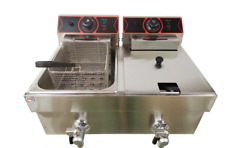 Electric Deep Fryer Commercial Countertop Basket French Fry Dual Tank