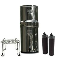 Royal Berkey Water Purifier System w/2 Black Filters Stainless Steel Wire Stand