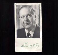 Russell B. Long Signed Photo Postcard Autographed Signature Senator
