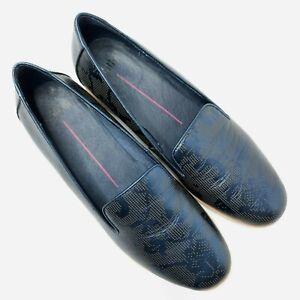 Mollini Womens Shoes Size EUR 39 AU 8 Blue Metallic Leather Slip On Cushioned