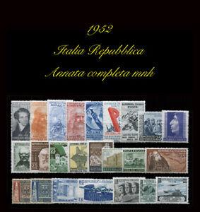 1952 Italia Repubblica Annata completa MNH CS € 190