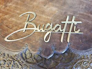 Bugatti Script Brass Radiator Body & Trunk Script