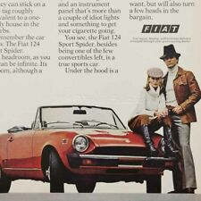 1967 Fiat 850 Sport Spider Convertible classic luxury car photo vintage print ad