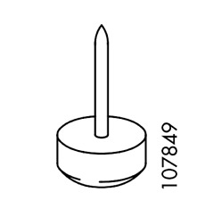 1x IKEA FLOOR  SURFACE PROTECTION FLOOR GLIDE WITH NAIL PART #107849