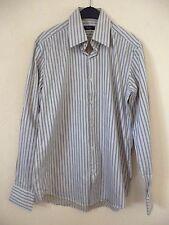 HUGO BOSS - Très jolie chemise blanc / beige  - Taille 15,45 / 40 - BON  ÉTAT