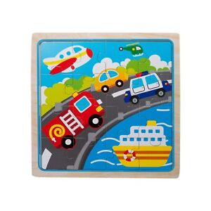 Eliiti Wooden Vehicles Jigsaw Puzzle for Kids 3 to 5 Years Old Boys Toy