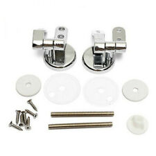 Pair Of Solid Chrome Toilet Seat Hinges Includes Fittings Fixings