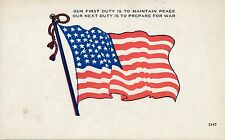 Flag Our First Duty Patriotic Postcard