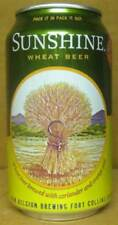 SUNSHINE WHEAT BEER  CAN w/ WHEAT SHOCKS New Belgium Brewing Ft Collins COLORADO