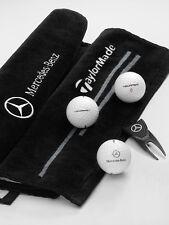 Mercedes-Benz Golfset - Golfbälle - 3er Set weiß mit Schlägertuch