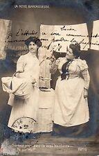 BK379 Carte Photo vintage card RPPC Femme woman Blanchisseuse linge panier