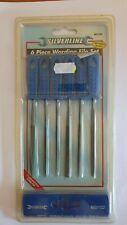 Silverline Warding File Set 6pce 100mm impact resistance flat half round MS102