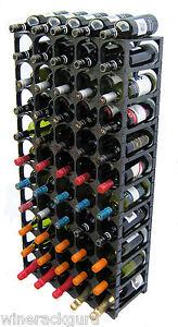 CellarStak Modular  Wine Racking System, Black , 55/60 Bottle
