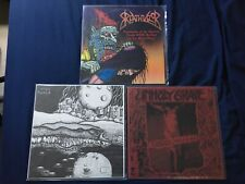 Punk Metal Grind LP Lot, Unholy Grave Breathilizor Rare OOP