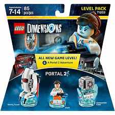 NEW LEGO DIMENSIONS LEVEL PACK  #71203 PORTAL 2 CHELL TURRETT CUBE FREE SHIPPING