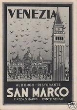 ALBERGO_RISTORANTE_VENEZIA_SAN MARCO_BENETAZZO_RARA PUBBLICITARIA_CARTOLINA