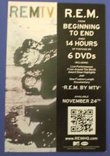 """R.E.M. - REMTV 1""""x4"""" bookmark promo card"""