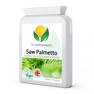 Saw Palmetto - 2500mg 90 -  or - 180 Capsules food supplement