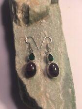 "Green Quartz Earrings 1.8""-E1610 Spectacular Amethyst Lace +"