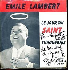 EMILE LAMBERT 45 TOURS BELGE LE SAINT THE SAINT