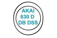 SET CINGHIE AKAI 630 DB D DSS REGISTRATORE A BOBINE BOBINA NUOVE FRESCHE 630D
