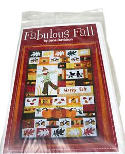 "Quilt Pattern: ""Fabulous Fall"" by Turnberry Lane 42x55 1/2"" NIP Jana Davidson"