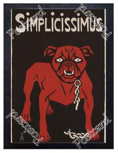 Historic Simplicissimus (German Magazine), 1896 Advertising Postcard