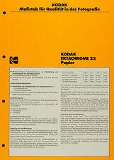 Kodak Ektachrome 22 Ppapier - Kodak Datenblatt P-F 13