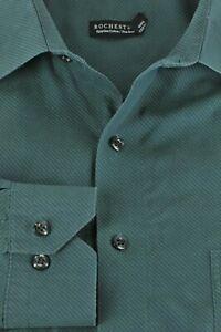 Rochester Men's Jade Dot Fine Striped Cotton Dress Shirt 19 x 36/37 Tall